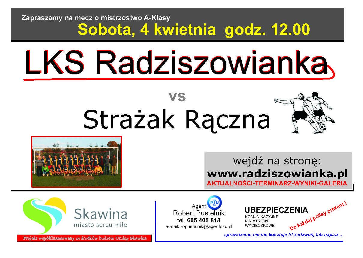 plakat na mecz radziszowianka-strazak 04.04.2015 kopia