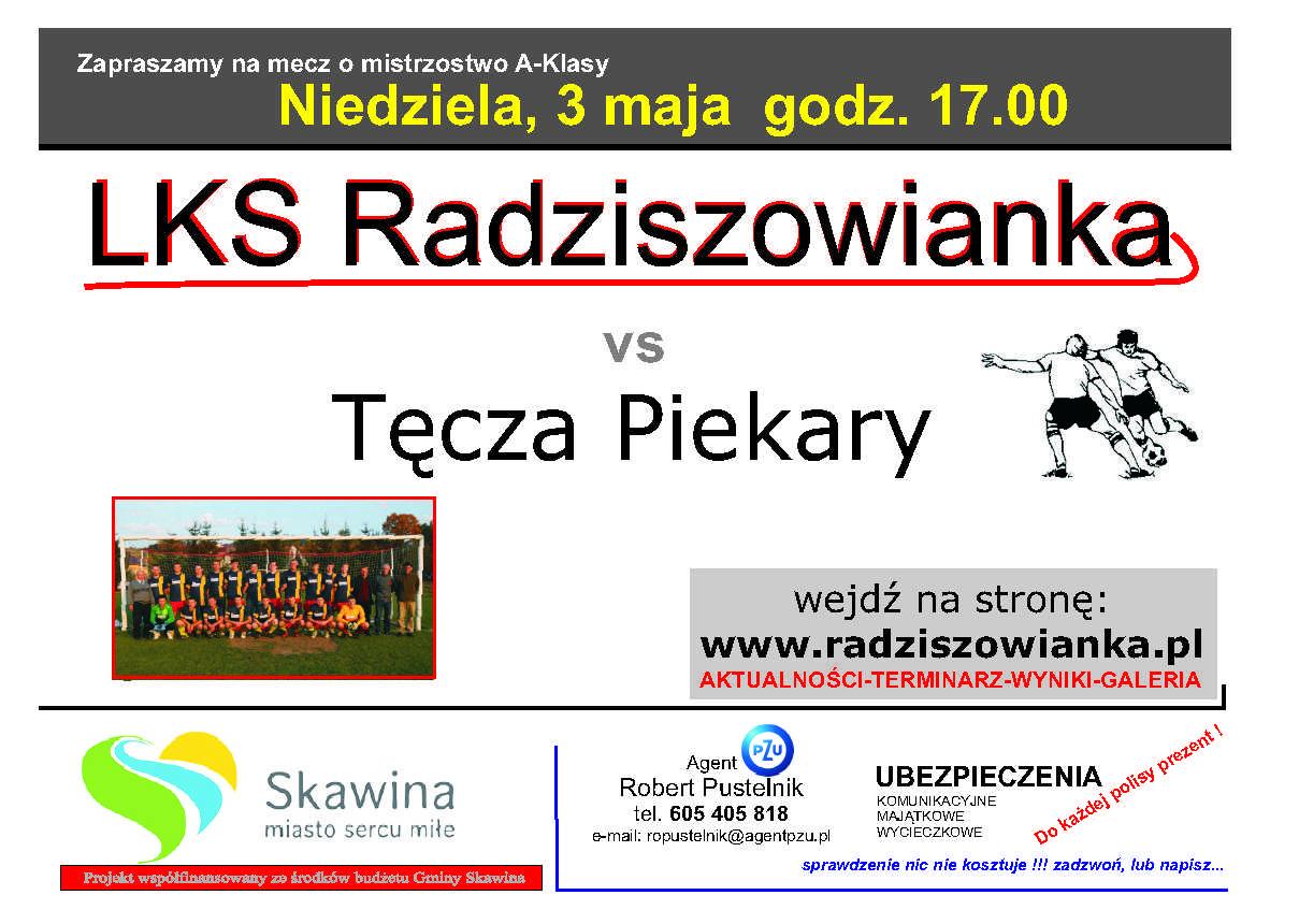 plakat na mecz radziszowianka-tecza_03.05.2015 kopia