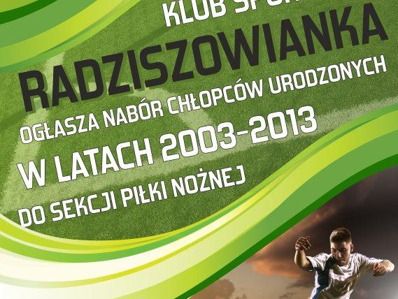 plakat radziszowianka nabór