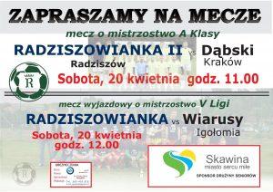 plakat na mecze 20.04.2019